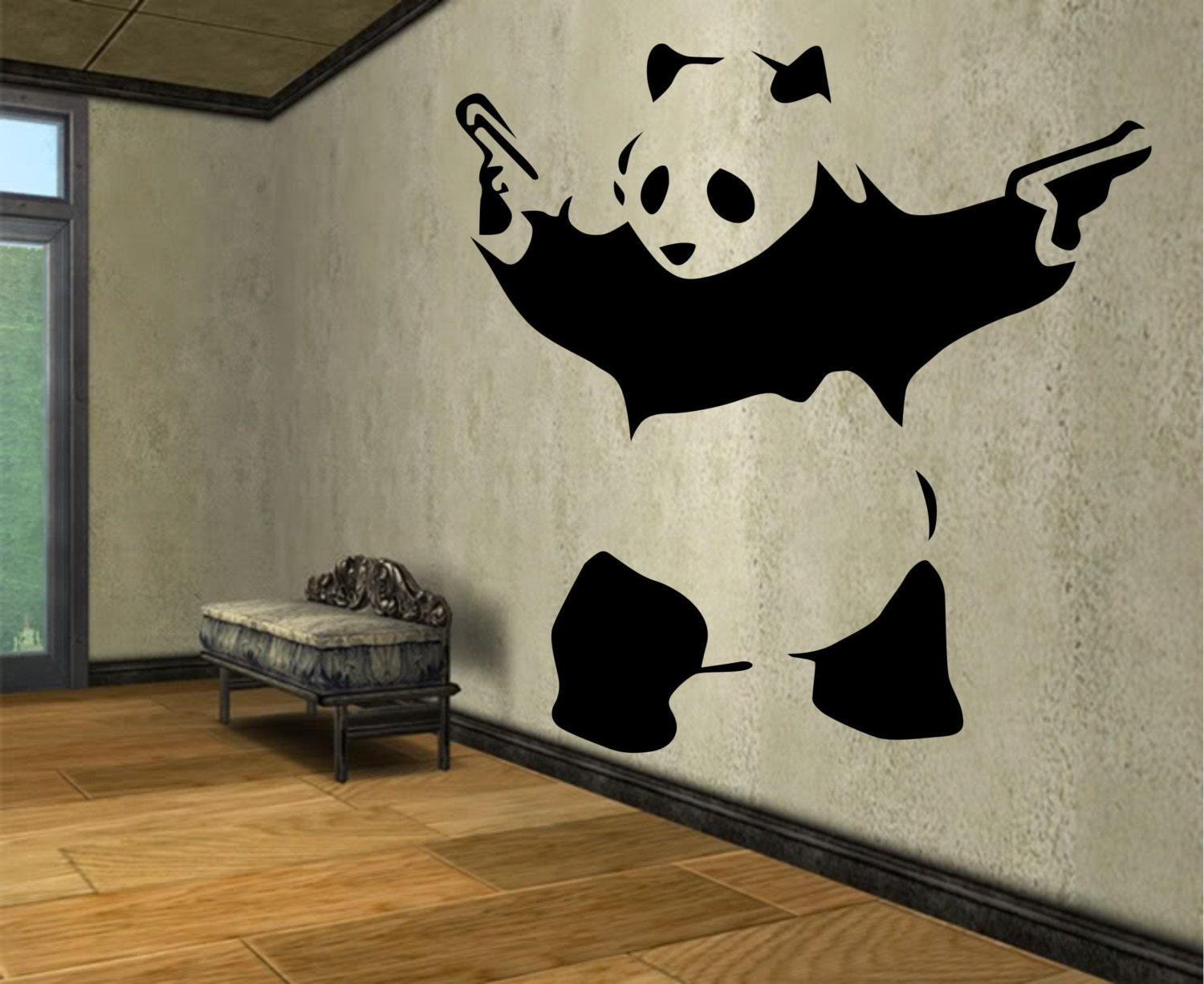 Panda Wall Decal Sticker