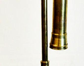 "Brass telescope with tripod, 17 1/2"" tall. -(1411-184)"