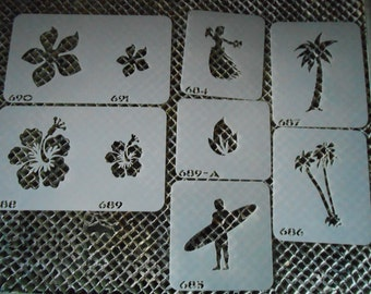 Hawaiian Stencil Set 114!