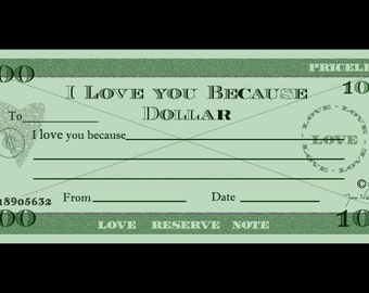 Love you Because Dollars