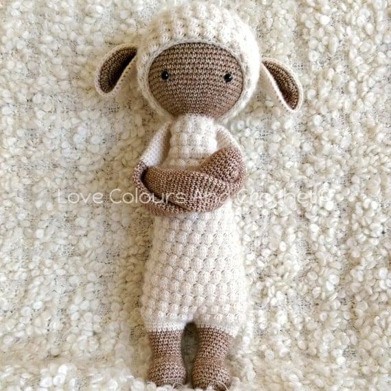 Amigurumi Sheep Doll : Lalylala Lupo Lamb doll Amigurumi Stuffed Animal Toy Crochet