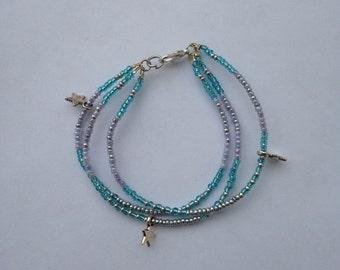 Bracelet adorned with rockeries pearls - Friendship Bracelet