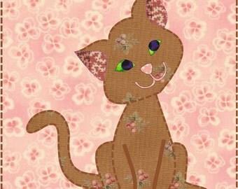 Cat Quilt Block - PDF Download - Instant Download - Sweet Kitty Pattern - Block Pattern - Quilt Pattern - Quilt Block - Block Pattern