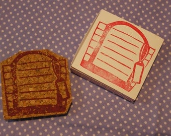 Tote bag Note Rubber Stamp