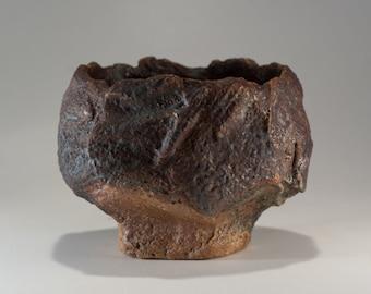 Wabi-Sabi Tea Bowl, Yunomi, handbuilt, woodfired, one of a kind by Paul Fryman