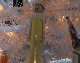 Clothes Pin Elf/Gnome Ornaments