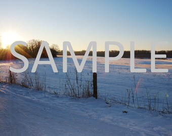 Denmark snow photograph stationery note card (with envelope)