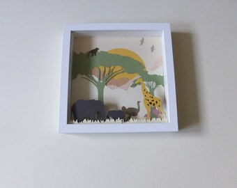 Table cut paper, Savannah theme