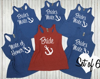6 Brides Mate Shirts - Before The Bells