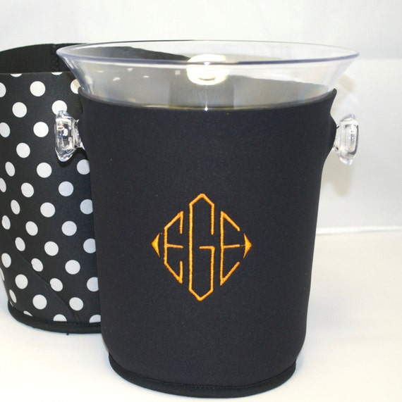 Monogrammed Ice Bucket With Sleeve By Mjmonograms On Etsy
