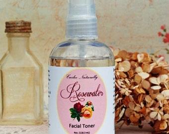 Rose Water Facial Toner ~ 4 oz. (118.5mL)