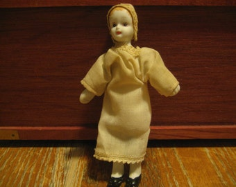 SALE !!! Antique Doll Bisque Head, Arms, & Legs, Cloth and Wire Body - Original Clothes