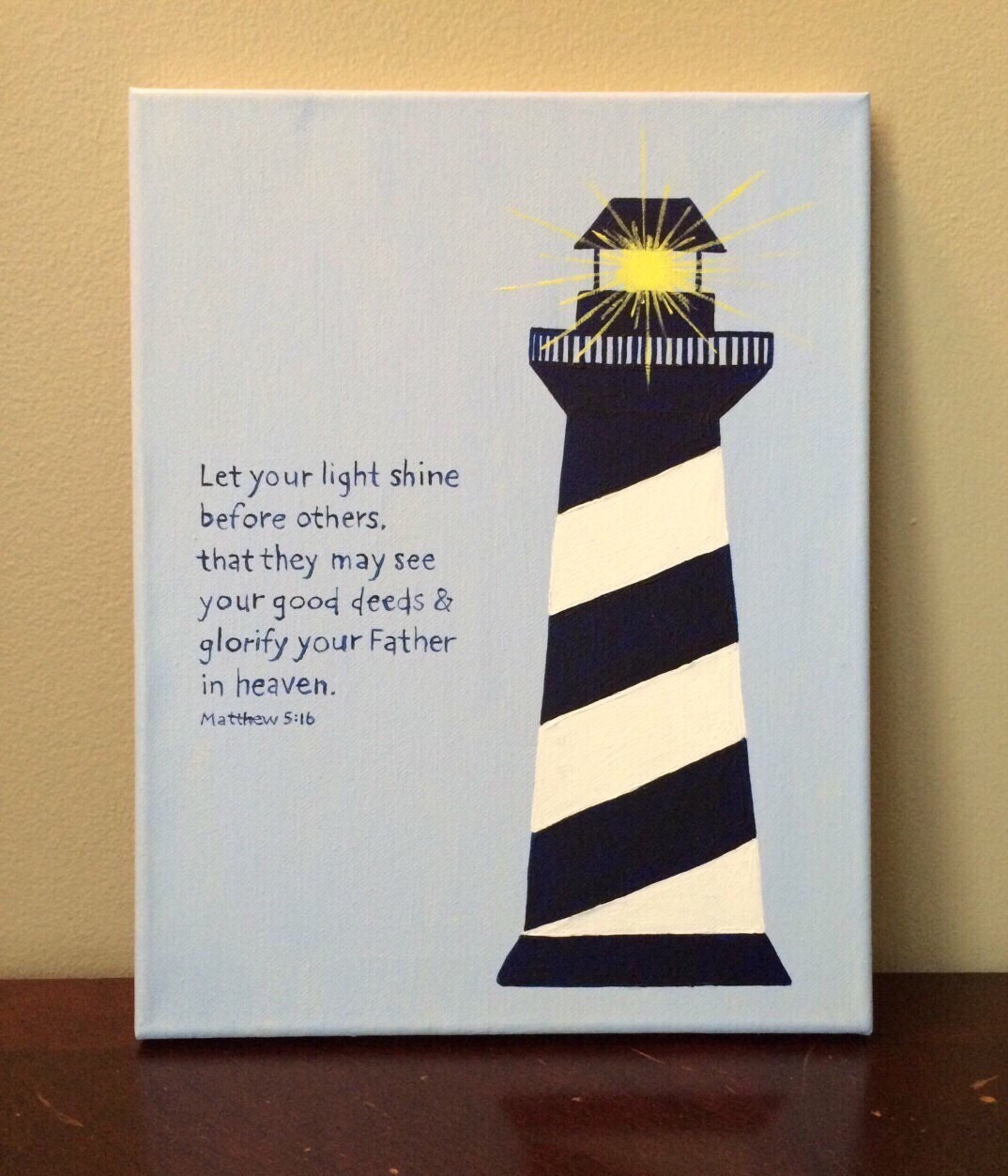 Lighthouse bible verse art nautical by littlewhispersofhope for Best craft light reviews