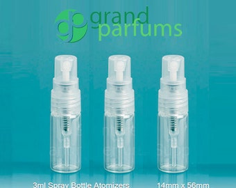 24- 3ml GLASS PERFUME ATOMIZERS for Fragrance - Perfume Sample Spray Bottles for Decanting