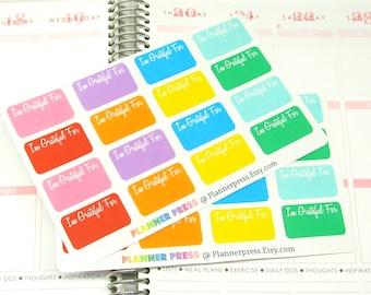 I Am Grateful For Planner Sticker fits Erin Condren Life Planner (ECLP) Reminder Sticker 1321
