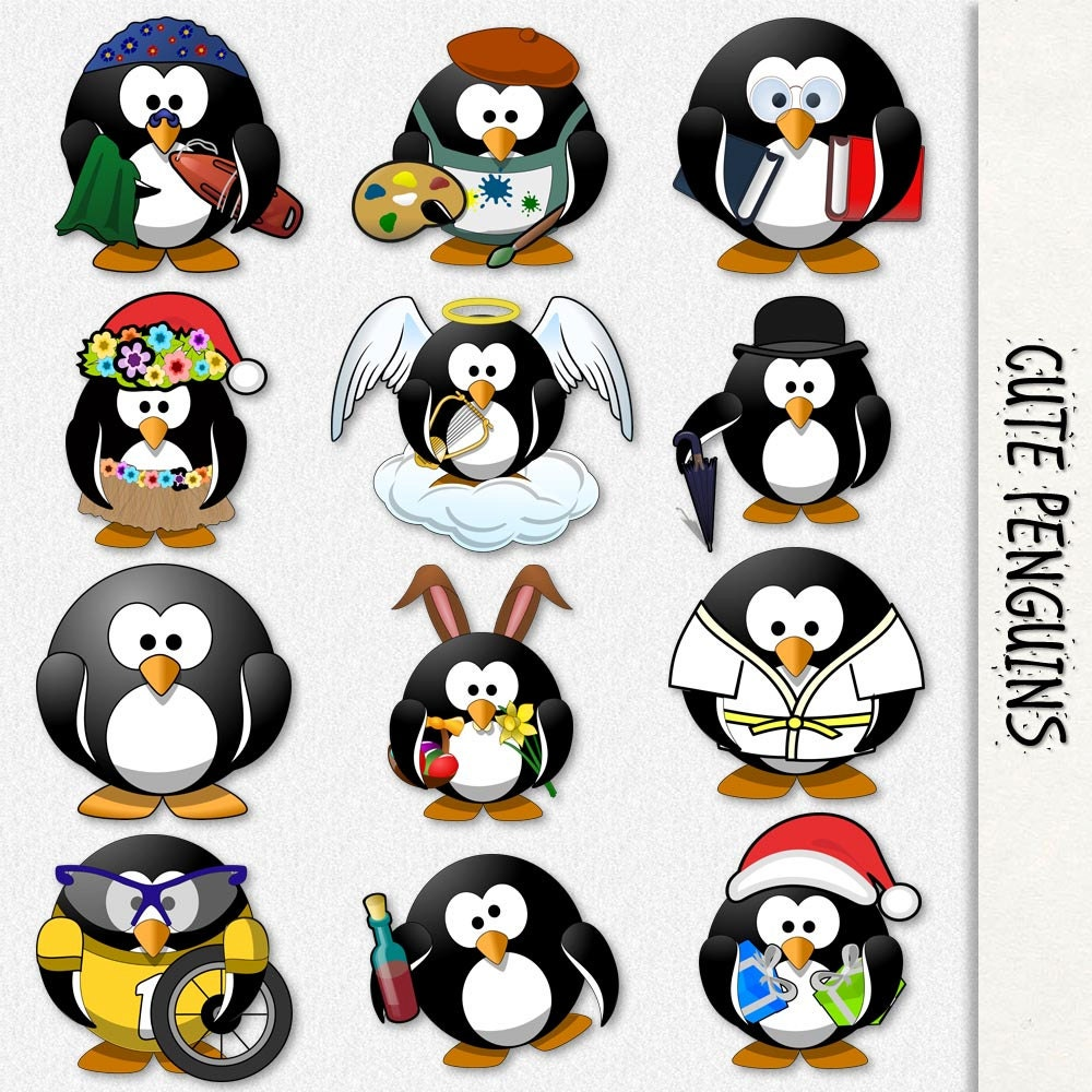 Penguin Graphics Cute Penguin Clip Art Clipart Scrapbook