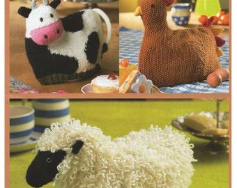 farm tea cosies dk knitting pattern 99p