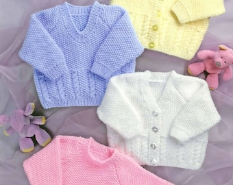 sweaters and cardigans dk knitting pattern 99p
