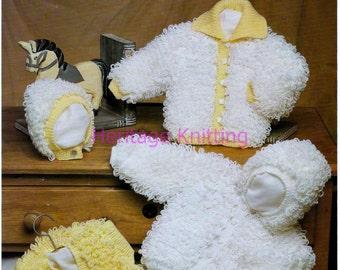 jackets hat and bolero dk knitting pattern 99p pdf
