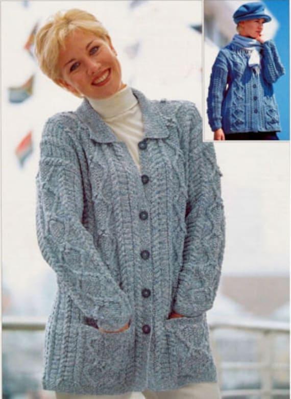 womens jacket dk knitting pattern 99p