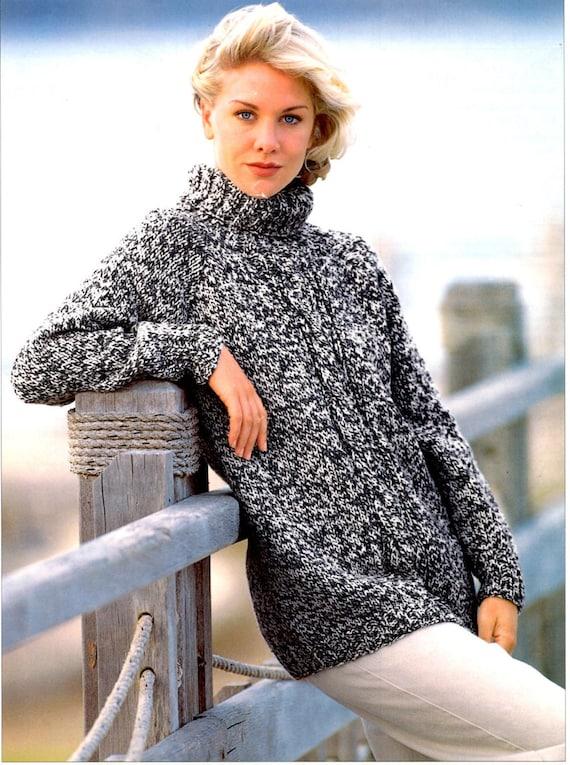 Womens Sweater Chunky Knitting Pattern 99p Pdf