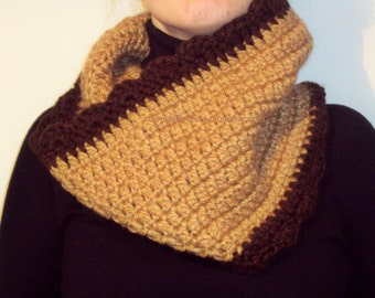 Crochet knit cowl scarf chunky Cake