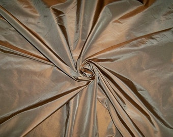 LEE JOFA Kravet MORPHEUS Silk Taffeta Fabric 10 yards Chestnut