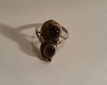 Sterling Native American Amethyst Ring