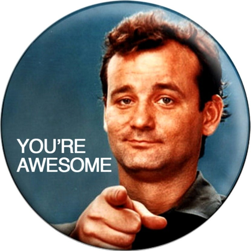 You Re Awesome: YOU'RE AWESOME Bill Murray Button Badge Pinback Pin By
