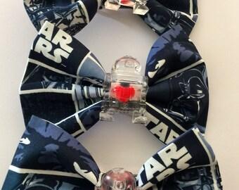 R2d2 hair bow