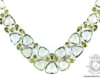 342 Carats Lemon Quartz Citrine 925 SOLID Sterling Silver Necklace & FREE Worldwide Shipping