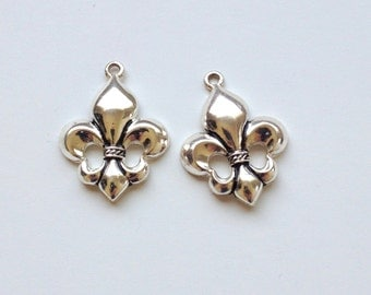 Sterling Silver Fleur De Lis Charms