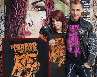 the cramps t.shirt psychobilly punk rock garage punk CBGB's rockabilly stooges