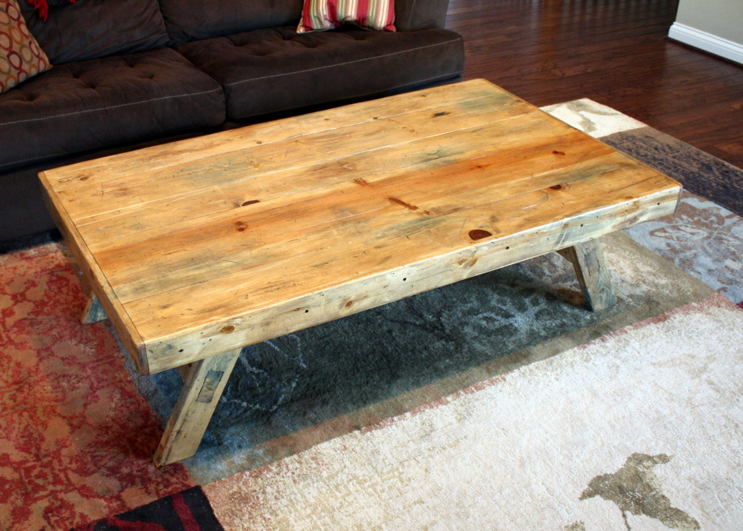 Distressed Wooden Coffee Table
