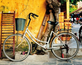 Urban Landscape Fine Art Print, Resting Bicycle, Hoi An, Vietnam