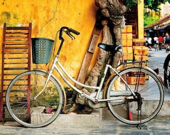 Urban Landscape Fine Art Print, Resting Bicycle, Hoi An, Vietnam