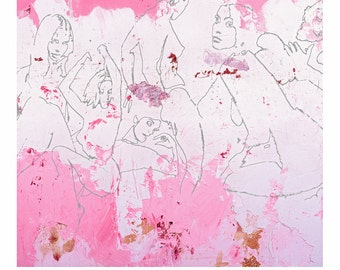 PINKDRAW - Mixed Media Fine Art Ltd Giclee Print