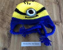 Despicable Me inspired Minion Hat - One Eye - Toddler to Adult