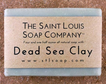 Dead Sea Clay Soap – Vegan Soap, Fragrance Free Soap, All Natural Soap, Hand Made Soap, Clay Soap, Dead Sea Soap, Mineral Soap