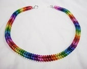 Rainbow Serpent - chainmaille necklace