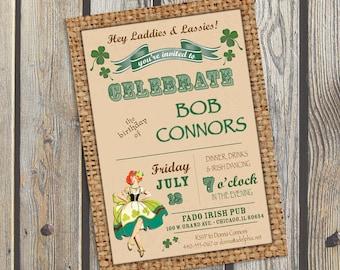 Vintage Poster Irish Party invitation