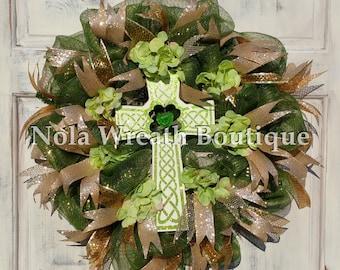 Celtic Cross Wreath