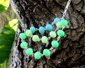 Layered Neon Statement Necklace