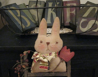 Primitive Bunny Decoration - Easter Bunny - Spring Bunny - Holiday