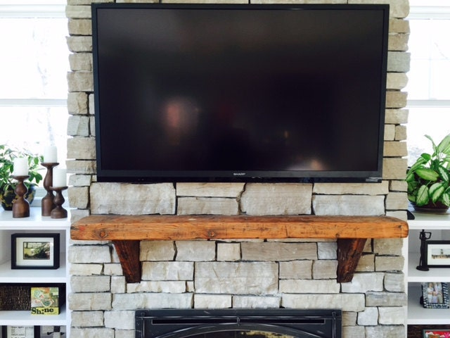 Reclaimed Barn Wood Fireplace Mantel