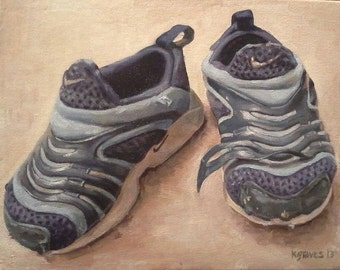 EXAMPLE ONLY. Original Hand Painted Shoes, 8x10 Oil Painting. SOLD