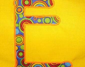 Applique Font #001 Machine Embroidery Monogram Font Alphabet Design Set INSTANT DOWNLOAD