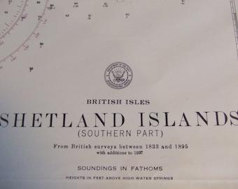 British Isles, Shetland Islands (Southern Part) - Nautical Chart, 4410