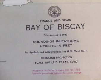Bay of Biscay, France and Spain - Nautical Chart, 2202