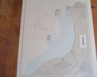 Monte Cristi Bay ~ Hispaniola, N. Coast, Dominican Republic - Nautical Chart, #1807